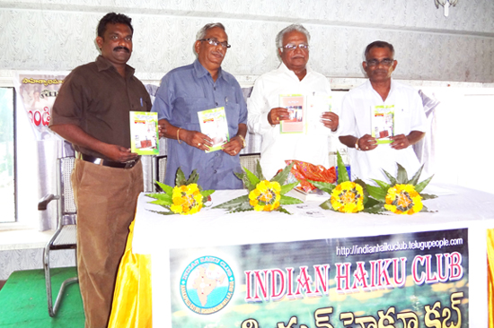 BOOK RELEASE-INDIAN HAIKU CLUB-KANDURI HRYUDAYOLLASAM BOOK 06