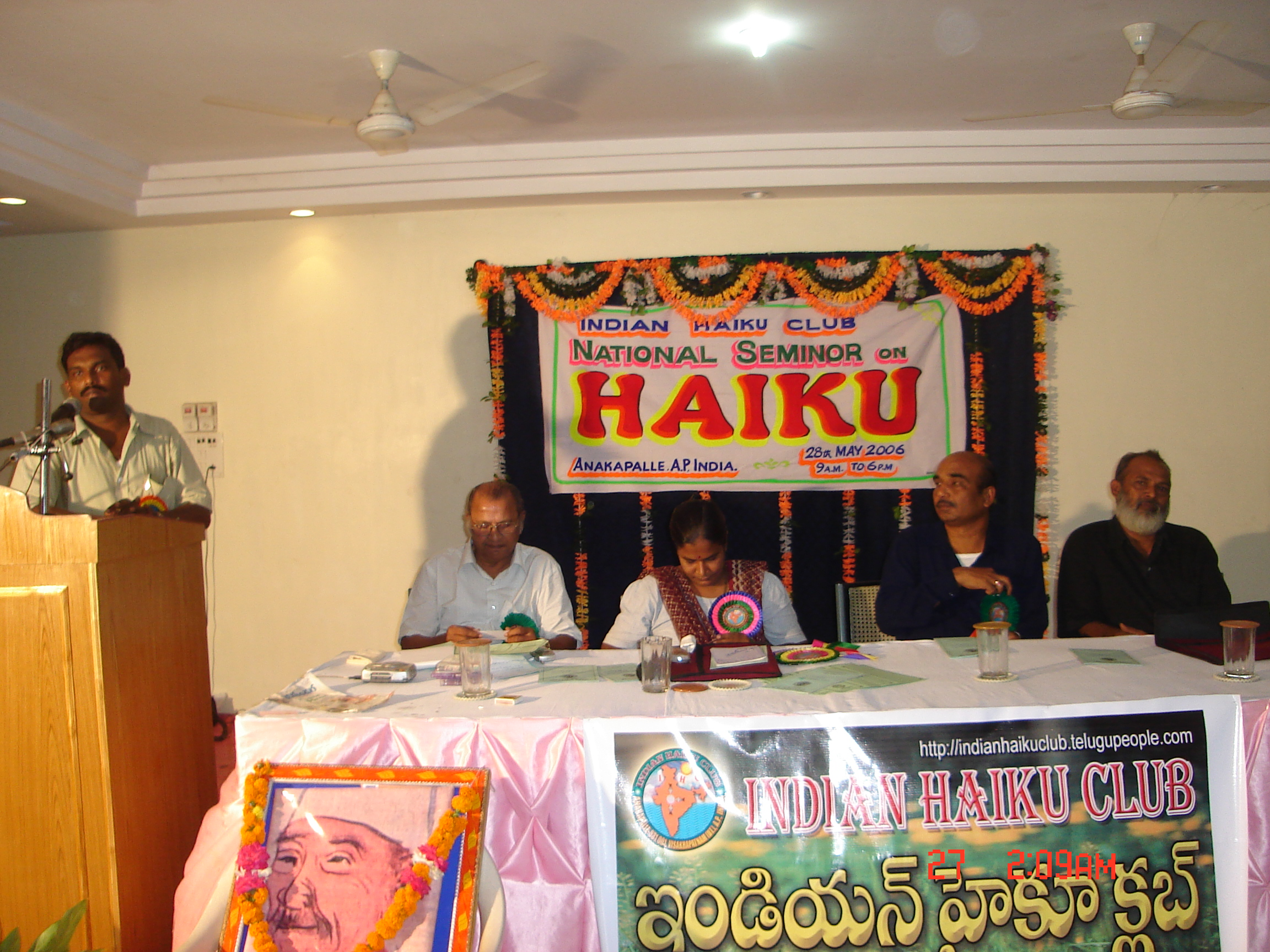 NATIONLA HAIKU SEMINAR ON 2006 MAY 28-INDIAN HAIKU CLUB-TALATHOTI PRITHVI RAJ